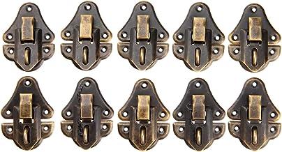 10 / 5Sets Latch Hasp 48x35mm Box Lock Gesp-schroeven Vintage Antieke Bronzen Ijzer Decoratieve Haak Houten Geval Sieraden...