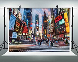 FHZON 10x7ft New York Times Square Photography Backdrop Prosperous City Posters Screen Travel Background Theme Party YouTube Backdrops Photo Booth Studio Props LXFH161