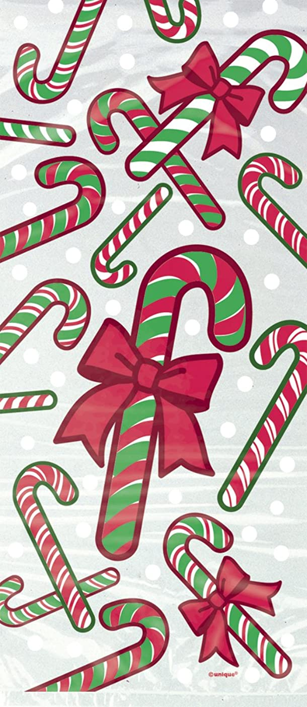 Candy Cane Holiday Cellophane Bags, 20ct