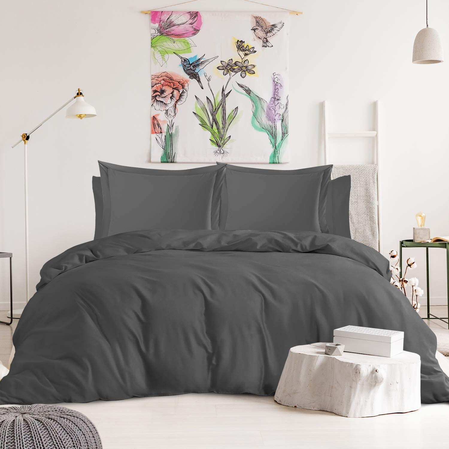 Nestl Dealing full price reduction Bedding Duvet Cover 6-Piece Set Count High - Sheets Thread Max 84% OFF