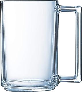 Luminarc - Mug 32 cl A la Bonne Heure - Verre Trempé - Design Tendance - Poignée Ergonomique - Compatible Micro-Ondes et L...