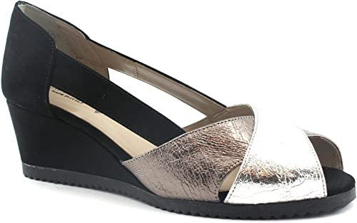 Cinzia Soft 022888 Chaussures Noires Femme decollet Pope zeppetta zeppetta laminé  le dernier