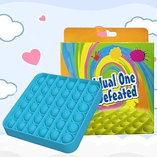 Square Shape-Push pop Bubble Fidget Sensory Toy Fidget Toy Autism Special Needs Stress Reliever for Homeschool & Office(wi...