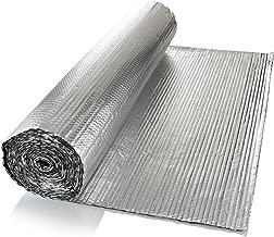 SuperFOIL - Lámina aislante (1 m x 7 m) - 4 mm - Reflector de calor de doble capa para paredes, suelos, techos, caravanas y caravanas, 1 rollo de lámina de aluminio acolchado, color plateado