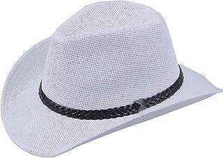 954c50476a1f5 Panama Hat Fashion Men Women Bull Rider Jazz Cap Summer Beach Wide Brim  Western Cowboy Braid