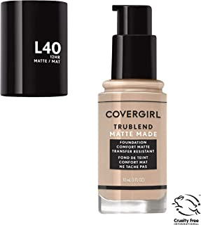 Covergirl Trublend Matte Made Liquid Foundation, L40 Classic Ivory, 1.014 Ounce