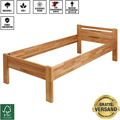 Krok Wood Seniorenbett Sisi Aus Massivholz In Buche 100 X 200 Amazon De Kuche Haushalt