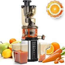 Juicer Machines, Vestaware Cold Press Slow Juicer with Two Speed Modes, Masticating Juicer Machine for Higher Nutrient Fruit and Vegetable Juice