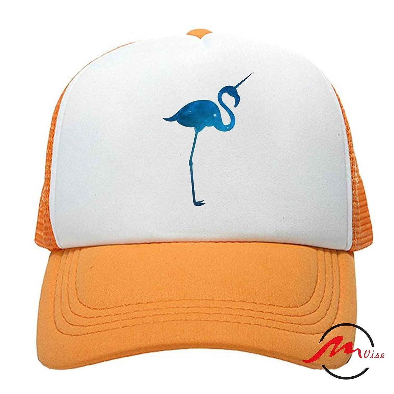 トリム分離する巨大なZMvise Flamingo Unicorn 男女兼用の十代の大人の習慣はかわいい野球帽のトラック運転手の網の帽子を印刷しました