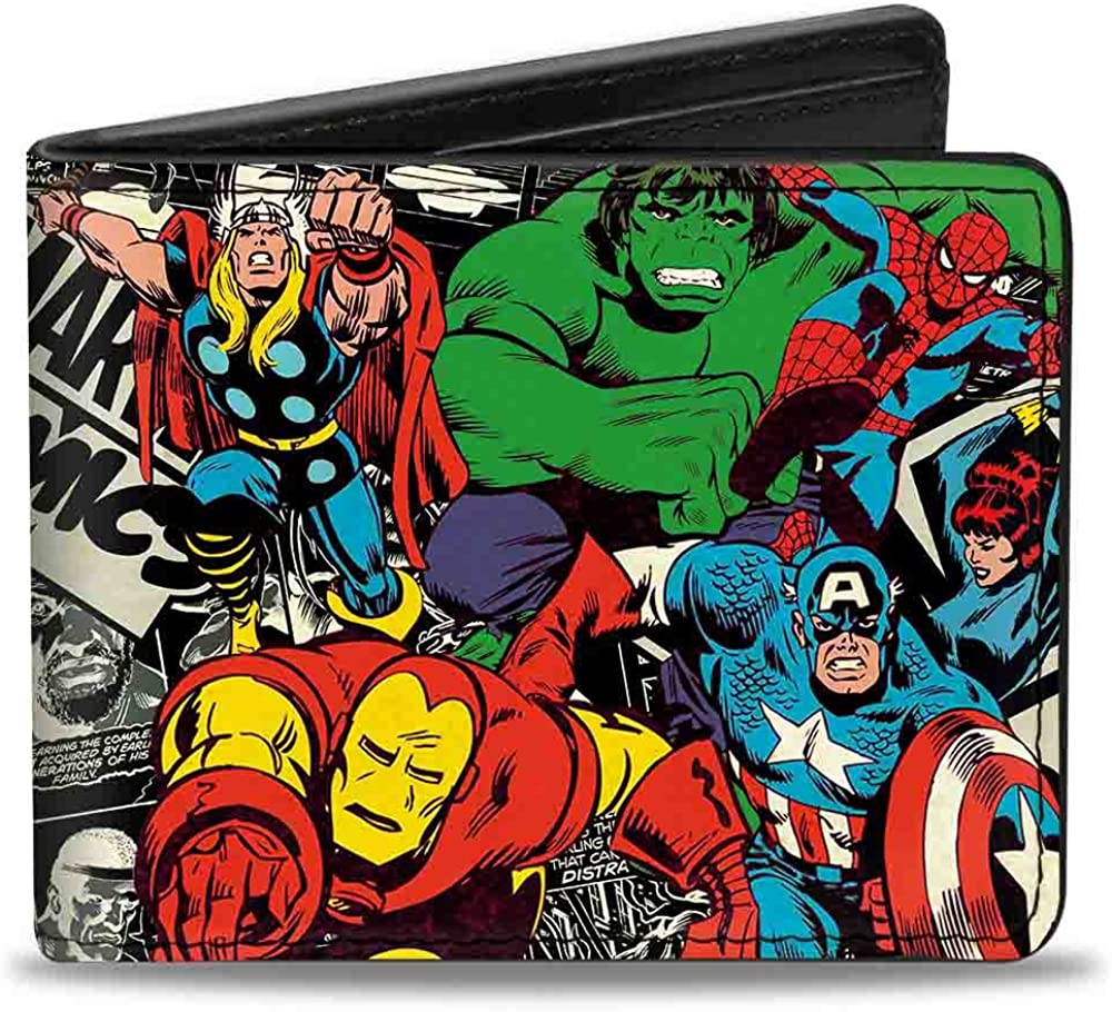 Free Shipping Cheap Bargain Gift Buckle-Down Bifold Wallet 70% OFF Outlet Avengers