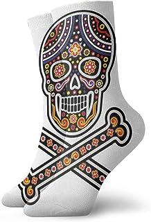 Holy Death Day Dead Mexican Sugar Men's Cushion Cotton Crew Sports Athletic Hiking Socks