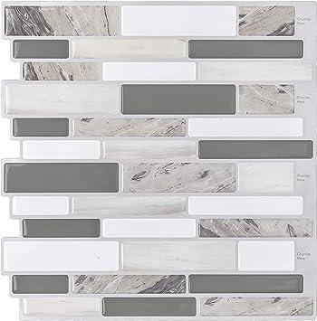 Hue Decoration Peel And Stick Backsplash Tile For Kitchen 3d Stick On Decorative Vinyl Kitchen Backsplash
