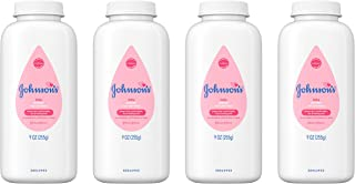 Johnson's Baby Powder, Hypoallergenic and Paraben Free, 9 oz (Pack of 4)