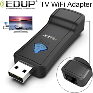 EMEBAY - Smart TV Wireless WiFi Streaming to RJ45 Network Adapter for TV, Set Top Box, Printer, Projector, CCTV, Any Devices with RJ45 Port