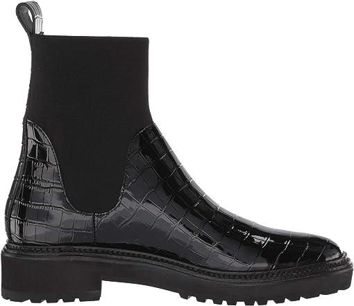 Black Shiny Embossed Croc/Flyknit
