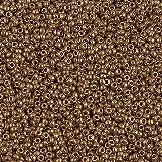 Miyuki Round Rocaille Seed Beads Size 15/0 Metallic Light Bronze 8.2 Gram-Tube 15-457L