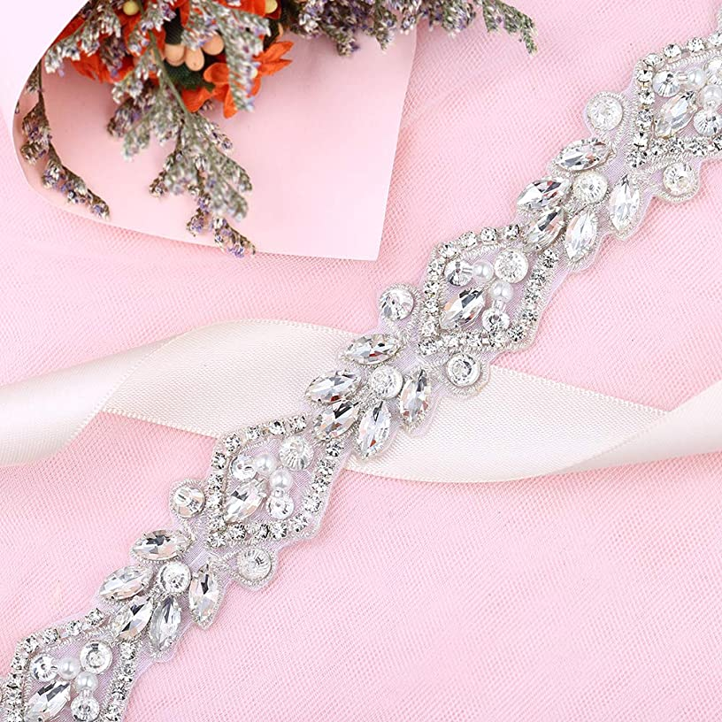 1 Yard Rhinestones-Trim-Applique Crystal Belts for Dresses Pearls Applique Trim Sequin Appliques for Wedding Dresses