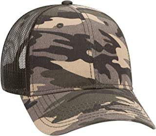 6 Panel Low Profile Syle Camouflage Cotton Twill Mesh Back Cap