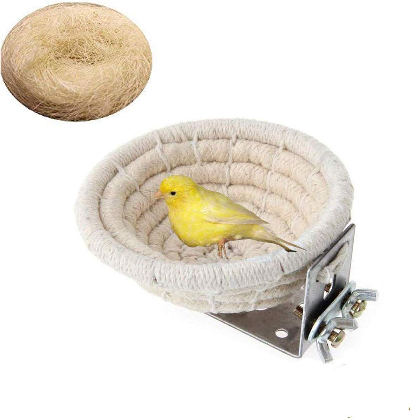 Bird Nest Parakeet Handmade Cotton Max 65% OFF Hemp 2021 Nests Rope Weave Bi