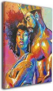 King African American Lovers Couple 12