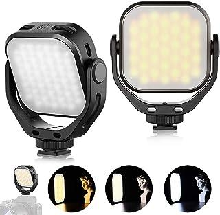 VL66 Luz de Video LED Temperatura de Color Luz de Cámara Luz de Bolsillo Compacta Giratoria de 360 ° con luz Suave Compati...