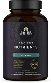Ancient Nutrition, Ancient Nutrients Magnesium - 300mg Magnesium, Adaptogenic Herbs, Enzyme Activated, Paleo & Keto Friendly, 90 Capsules