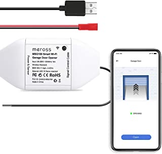 meross Smart Garage Door Opener Remote, APP Control, Compatible with Alexa, Google Assistant and SmartThings, Multiple Notification Modes, No Hub Needed Upgrade Version, White