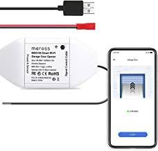 Smart Garage Door Opener Remote, APP Control, Compatible with Alexa and Google Assistant, Multiple Notification Modes, No Hub Needed by meross