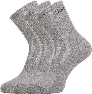 Toes&Feet Men's Anti-Odor Quick-Dry Quarter Crew Athletic Running Socks