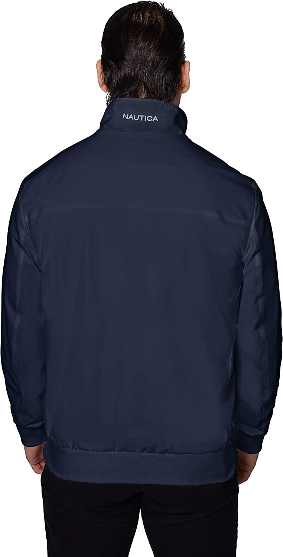 Nautica Men's Poly Zip Front Bomber Jacket