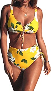 Women's High Waisted Green Bikini Sets