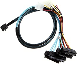 CableCreation Internal Mini SAS SFF-8643 to (4) 29pin SFF-8482 connectors with SATA Power,1M
