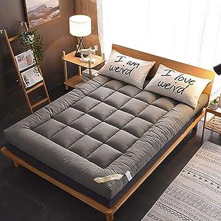 Japansk futonmadrass, vikbar golvmadrass bärbar campingmadrass sovplatta, tjock varm sängplatta dubbel sovmatta