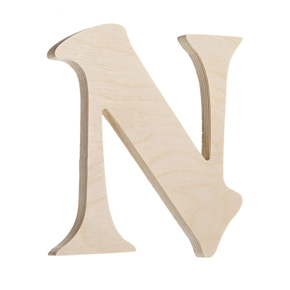 Darice U9130-N Fancy Wood Letter N