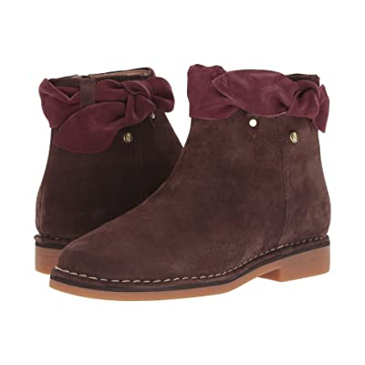 Hush Puppies Catelyn Bow Boot (Dark Brown Suede) Women