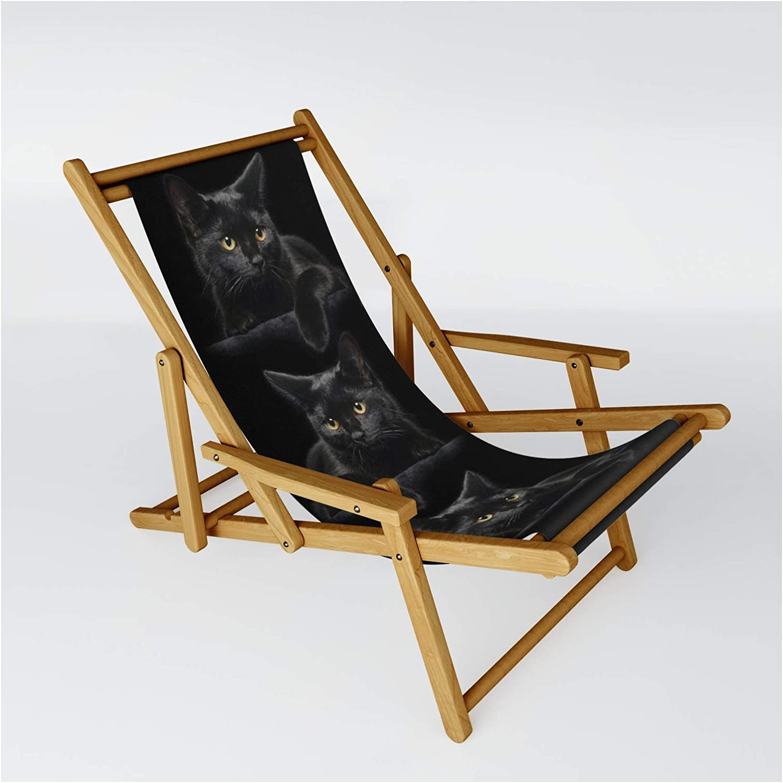 Popular Society6 Black Popular brand Cat by Fantasyartdesigns on One Sling Siz - Chair