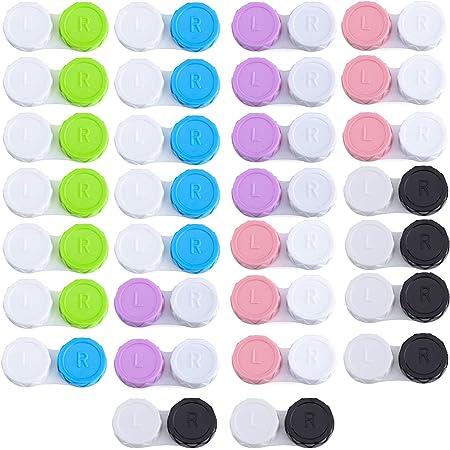 LABOTA 30PCS Étui de lentilles de contact, Portable Etui Lentilles de Contact, Étuis à lentilles, Voyage Boite à Lentilles de Contact, Boite de lentilles de contact