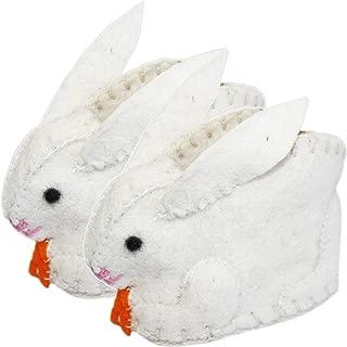 Silk Road Bazaar Bunny Infant Zooties, White, One Size