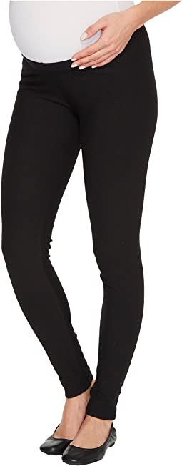 Plush - Maternity Fleece-Lined Cotton Under-Belly Leggings
