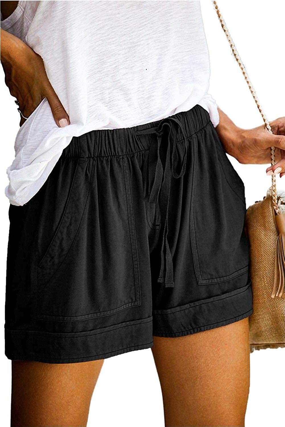 SWEET POISON Womens Shorts Al sold out. Summer Wais Elastic Casual Drawstring Regular discount