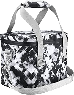 Homitt Soft Cooler, 10 Can Cooler Bag Insulated Soft Side Cooler with Hard Padding and Heavy Duty Waterproof TPU Material for Lunch, Camping, sea Fishing, Beach Trips, picnics, etc.