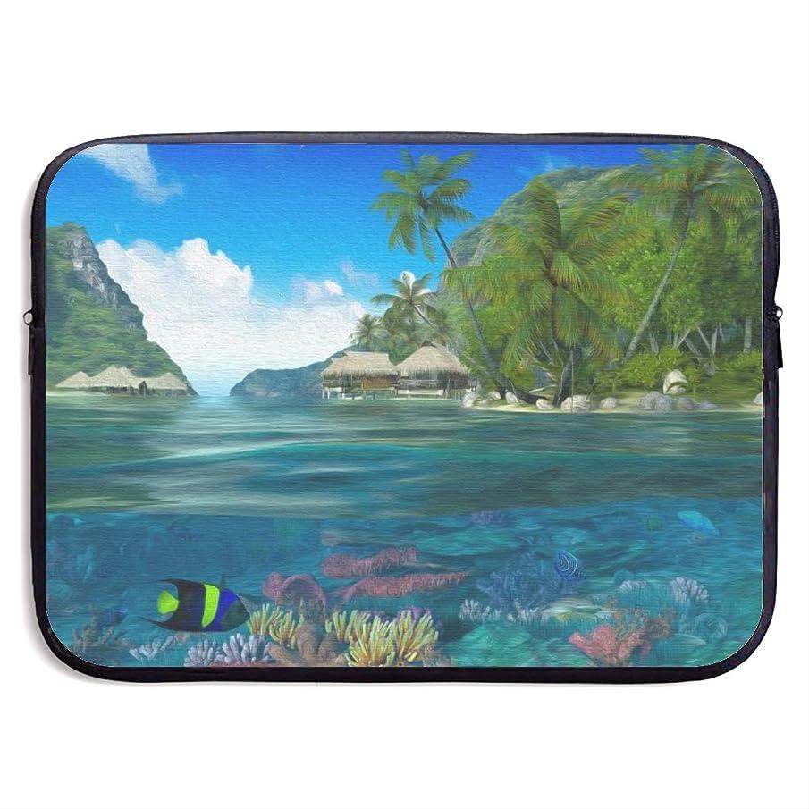 Computer Bag Laptop Case Slim Sleeve Fantasy Tropical Landscape Waterproof 13-15In IPad Macbook Surface Book