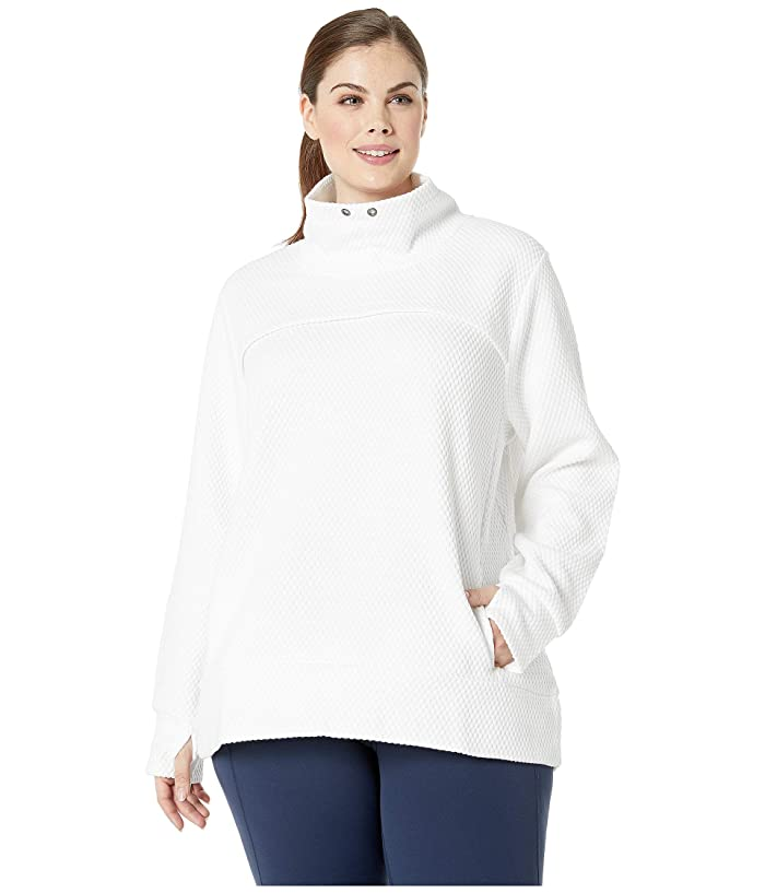 SHAPE Activewear Plus Size Overcast Popover (White) Women