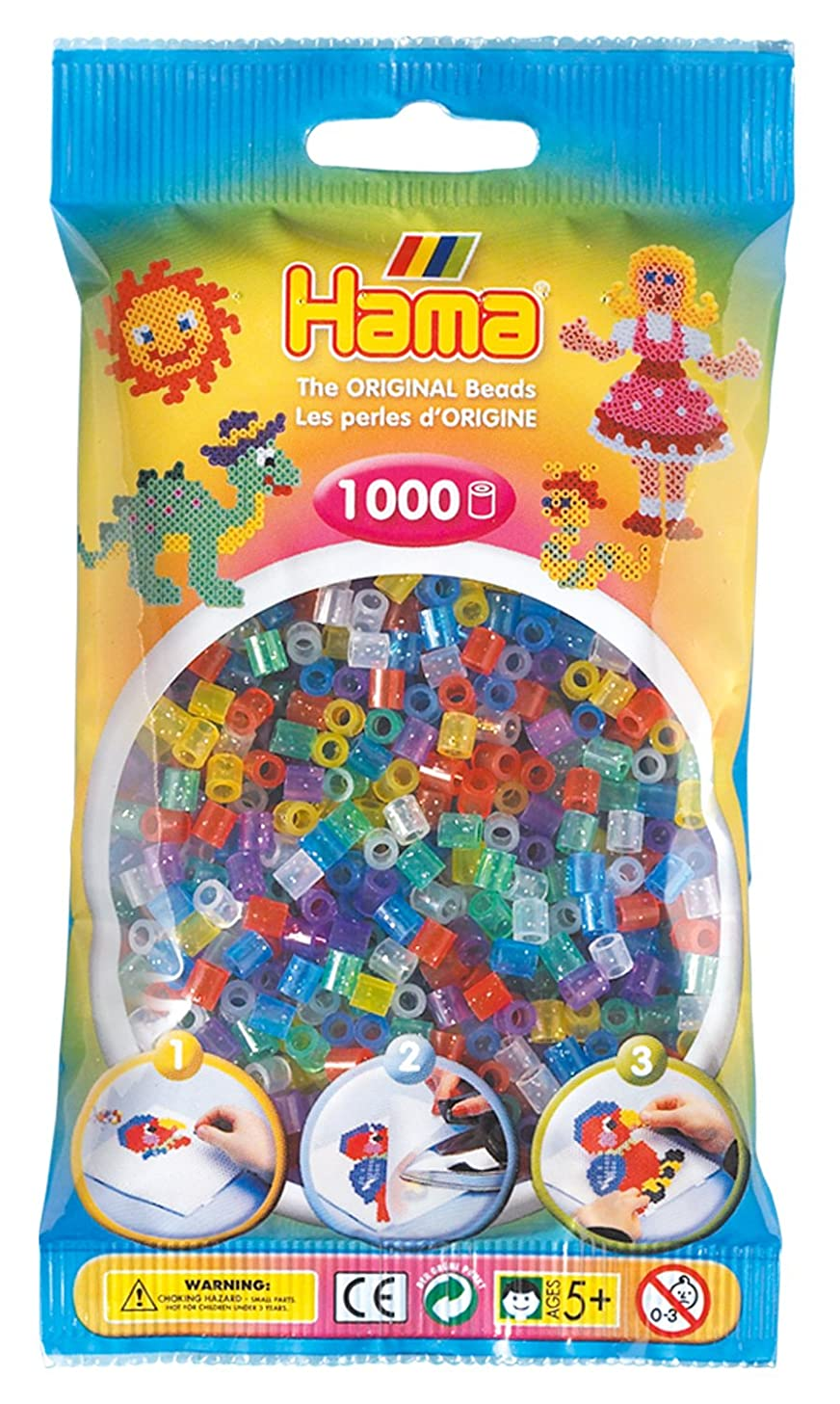 DKL Hama Beads Glitter Mix (1000 Midi Beads)