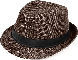 1920s قبعة فيدورا بنما للرجال جاتسبي قبعة 1920s للرجال إكسسوارات زي جاتسبي