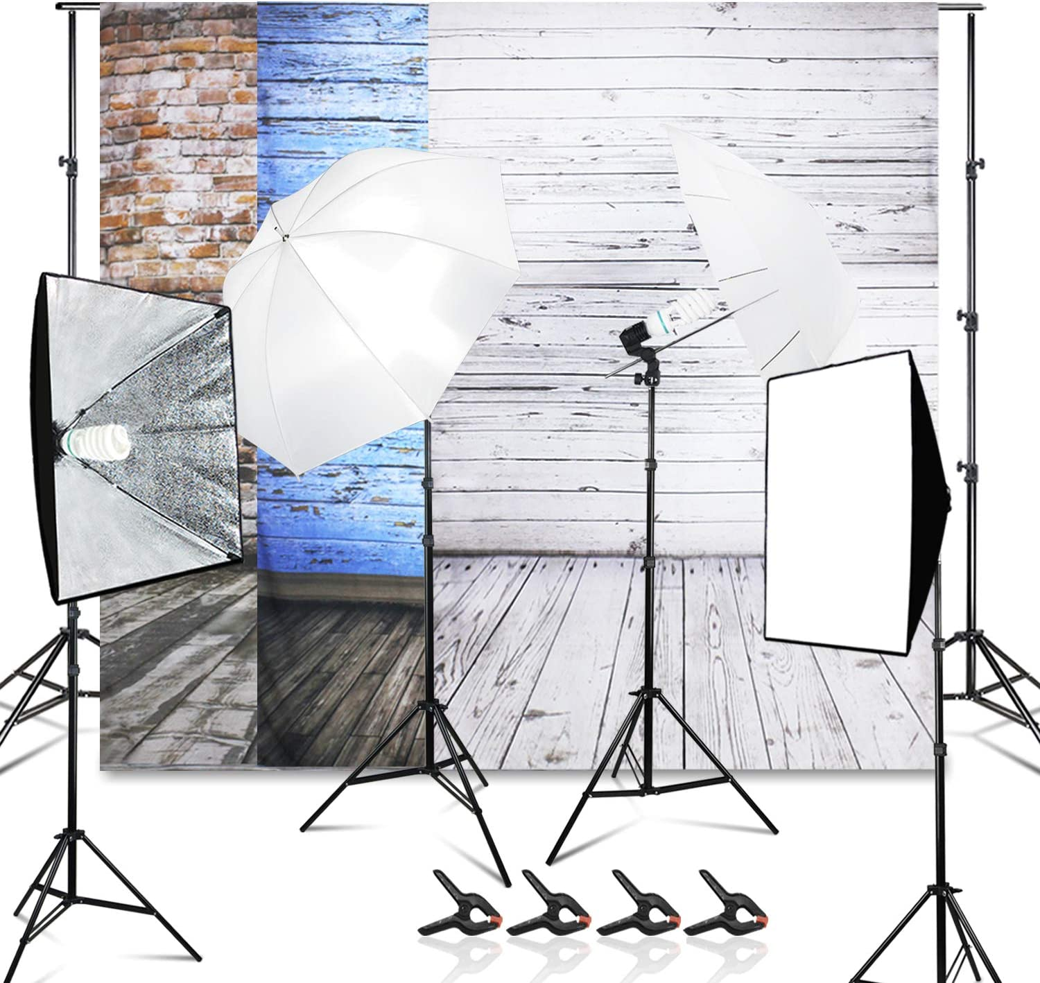 LimoStudio 10ft. Ranking TOP2 x 7.5ft. Very popular Background Support 5500K System 800W