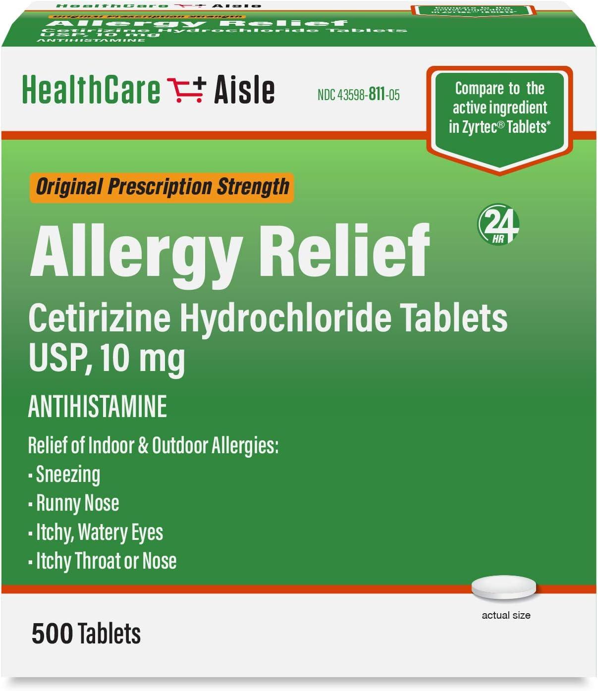 HealthCareAisle Allergy Relief Hydrochloride Popular popular Cetirizine Tablets Minneapolis Mall