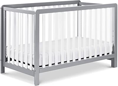 Carter's by DaVinci Colby 4-in-1 Low-Profile Convertible Crib in Grey and White, Greenguard Gold Certified