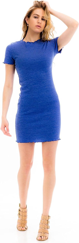 Malibu Days Bodycon Sexy Short Sleeve Cocktail Party Plain Short Mini Dress