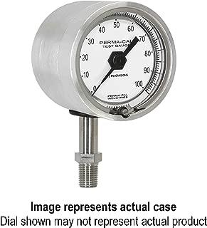 Pressure Gauge, Gearless, Test, 0-160 psi, 2.5